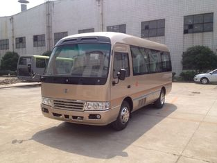 ประเทศจีน Luxury 19 Seater Minibus / Diesel 6m  Length Coaster Bus 4.3T Rear Axle , 15-24 Seats ผู้ผลิต